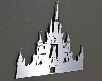 Princess Castle Metal Wall Art  - Metal Wall Art - Home Decor - Disney Inspired - Silver Decor - Childrens Bedroom - Castle Artwork - Girls