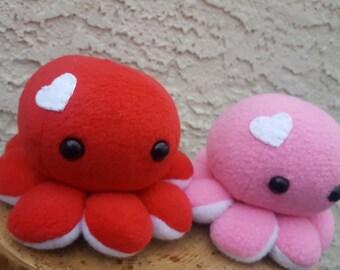 Octopus Plush - Valentine's Heart Octopus