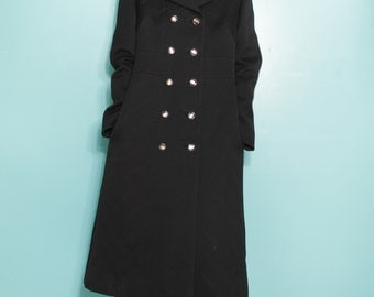 Wool black coat (S)