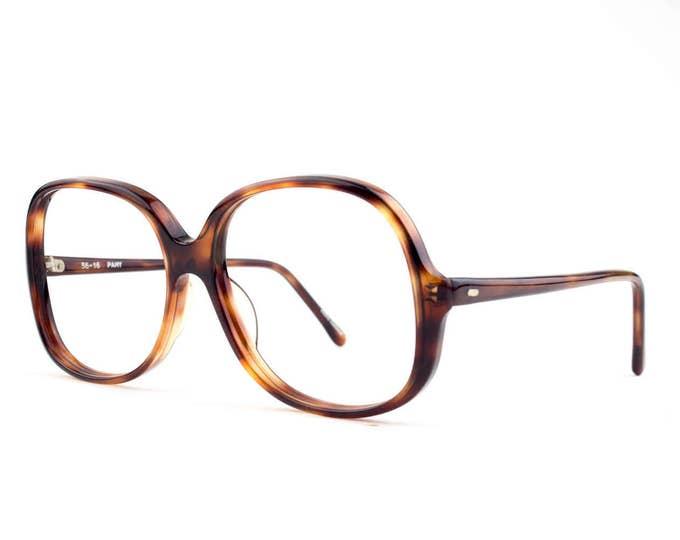 80s Vintage Eyeglasses   Oversized Tortoiseshell Glasses   NOS 1980s Eyeglass Frame   Deadstock Eyewear - Pamy