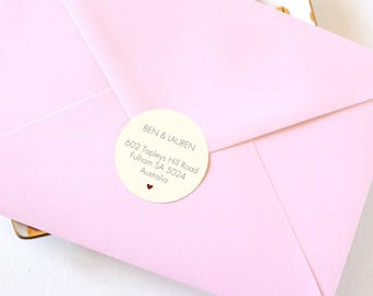 Wedding Return Address Labels, Wedding Address Sticker, Wedding Envelope Seals, Custom Address Labels, Personalized Address Labels, ST002