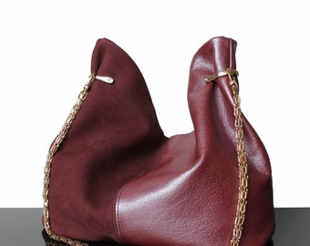 Red bag, hobo bag, cherry, suede bag, leather bag rouge, suede hobo, rouge suede hobo, hobo, design bag