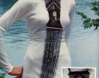 Long Macrame Necklace Vintage Macrame Pattern Download