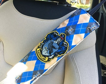 Harry Potter Ravenclaw Handmade Seat Belt Cover with Velcro Straps