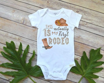 Cowboy shirt, First Rodeo, Country Baby, Pregnancy Reveal shirt, Rodeo shirt, Baby Shower Gift, Country shirt, Country Baby Gift, Rodeo