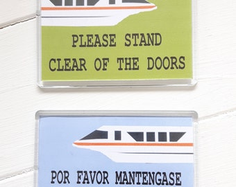Monorail 2 pack magnets
