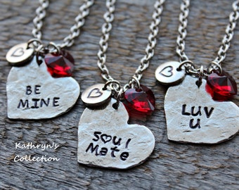 Valentine Necklace, Heart Jewelry, Valentine's Day Gift, Valentine's Jewelry, Be Mine, Soulmate