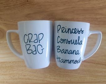11 oz. Crap Bag and Princess Consuela Banana Hammock Mug. Friends Mug. Friends tv Show Mug.