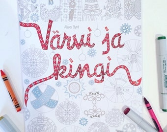 Holiday Estonian coloring book
