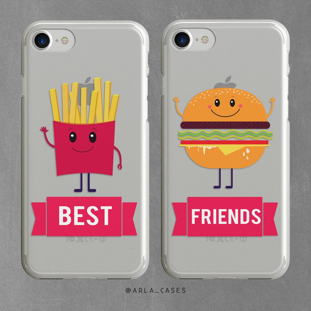 best friends phone case bestie gift phone case set iphone 7