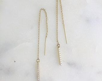 Gold Earring Threaders