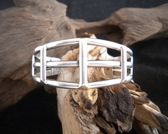 Gorgeous 3 Band Sterling Silver Bracelet Cuff Bracelet Sterling Bracelet Stackable Bracelet Accent Bracelet HandcraftedSWDesigns