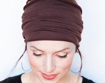 Brown Wide Headband Yoga Headband Boho Headband Running Headband Womens Hair Accessories Brown Headwrap Head Wrap Hair Wrap headbands Etsy