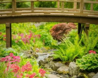 "Garden Bridge greeting card - 5x7"" frameable"