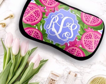 Monogrammed Makeup Bag, Personalized Makeup Bag, Personalized Cosmetic Bag, Monogrammed Cosmetic Bag, Make-Up Bag