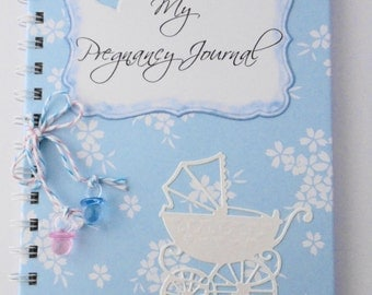 Handmade Pregnancy Journal - can be personalised - baby, gift