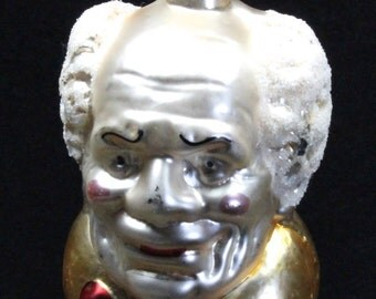Vintage West German Old Man Mouth-Blown & Hand-Painted Christmas Ornament
