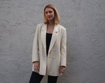 Cream Wool coat Made in the UK