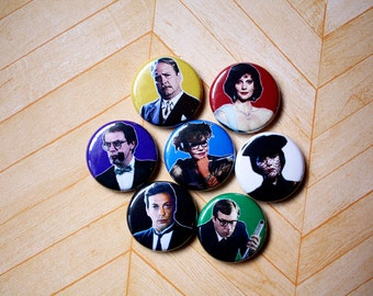 CLUE game movie- one inch pinback button magnet
