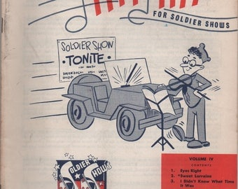 Army Hit Kit for Soldier Shows, Volume 4, c1953, Eyes Right, Sweet Lorraine I Didn't Know What Time It Was We'll Meet Again If I Were A Bell