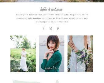 Wix Website design, website template, photography website design, photography website, photography branding, template 4885