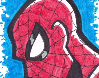 "Spider-Man  Artist Trading Card ACEO 2 1/2"" x 3 1/2"""