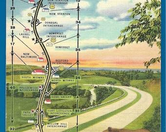 Linen Postcard - A Tour Through the Dream Highway, The Pennsylvania Turnpike  (2008)