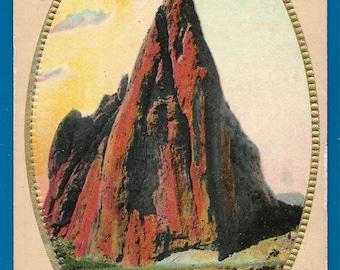 Vintage Embossed Postcard - Gate Rock, Garden of the Gods in Colorado Springs, Colorado  (2507)