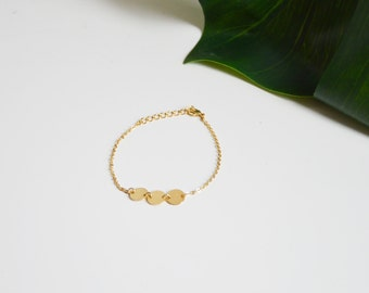 Bracelet CALLIOPE // Doré à l'or fin