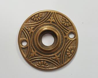 Solid Bronze Antique Floral Rosette For Doorknob 530114