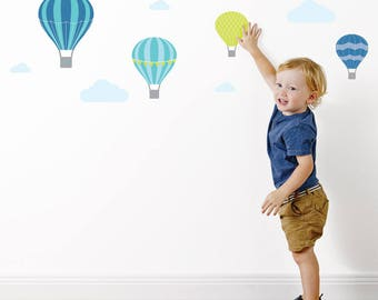 Hot Air Balloon Wall Stickers | Wall Decals | Nursery & Kids decor