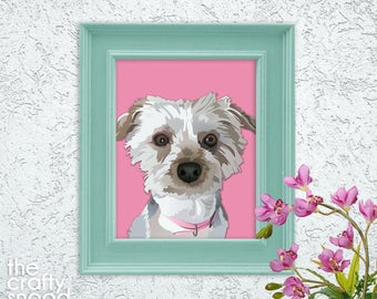 Custom Pet Digital Portrait - Digital File