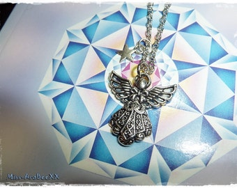 Guardian Angel Silver, Necklace with Angel Pendant, Lucky Charm, Protective Angel Talisman, Bringer of Salvation, Health & Protection