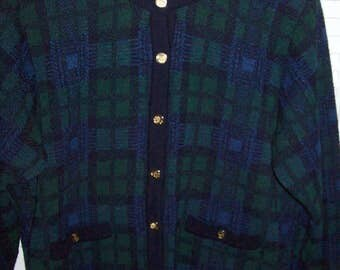 Jacket Medium, Vintage Talbot's Jacket Watchplaid Wool Blend Eases Into Spring Find ! Size Medium - Made in Italy