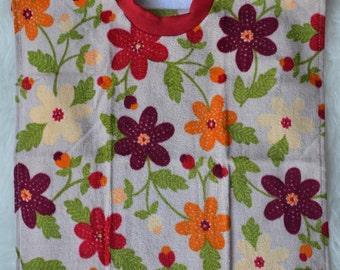 Flower Towel Bib