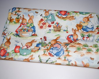 The Easter Garden by Alexander Henry Bunny Rabbit Fabric 1995