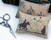 Classic Literature - Jane Eyre Silhouette Illustration Pin Cushion