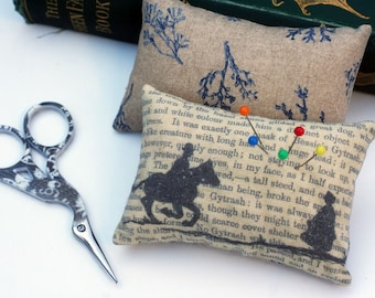 Classic Literature - Jane Eyre Silhouette Illustration Pin Cushion