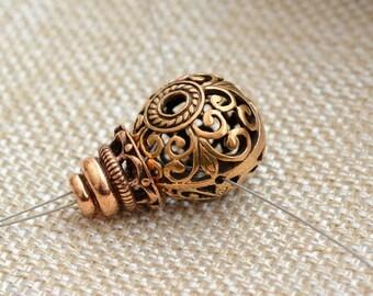 Large Ornate Bronze Guru Bead Set, Mala Connector Beads, Prayer Mala Beads, Buddhist,Tibetan, Japa Mala, Bronze Beads, One Set, AK15-088