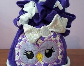 Girl Owl Fleece Winter Character Hat