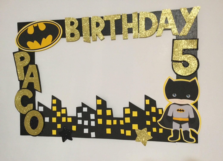 batman birthday batman photo booth frame batman photo frame prop superheroes birthday batman party decoration superheroes party frame