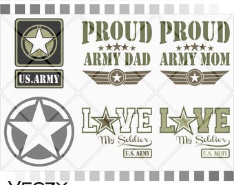 Army SVG, Proud army dad, proud army mom, love my soldier, Oskar Mike Army Star, us army, army mom, svg files for cricut