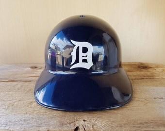 DETROIT TIGERS Vintage 70s Batting Helmet Souvenir Hat Sports Products Corp Laich Industries 1970 Baseball Cap Rare Larry Walker Collection