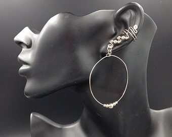 14K Beaded Hoop Ear Cuffs, comfortable, contemporary and glamorous