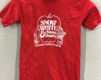 KIDS Vintage Snow White & The Seven Dwarfs Missoula Childrens Theatre T-Shirt Youth Large/Womens XS