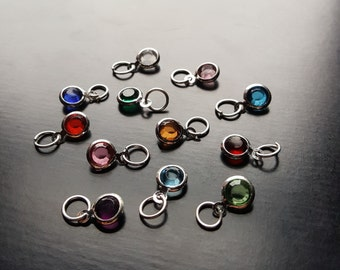 Add On Birthstone Charms for Necklaces and Bracelets