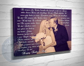 Father of the Bride Gift, Father of the Bride Canvas, Gift for Dad Wedding, Dad of All the Walks Photo, Father's Day Gift, RockinCanvas