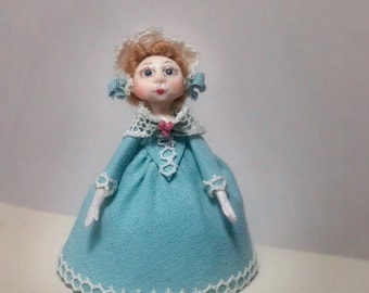 Doll Queen Anne 1:12 scale. 38 mm high