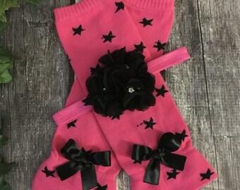 Leg Warmers Baby Girl, Pink Leg Warmers for Babies, Newborn Leg Warmers, Baby Shower Gift, Leggings, Baby Socks, Legwarmer Set, Infant Girl