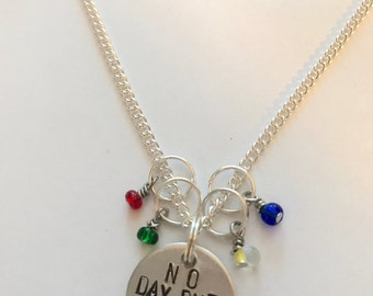 "Rent Inspired Hand-Stamped Necklace - ""No Day But Today"""